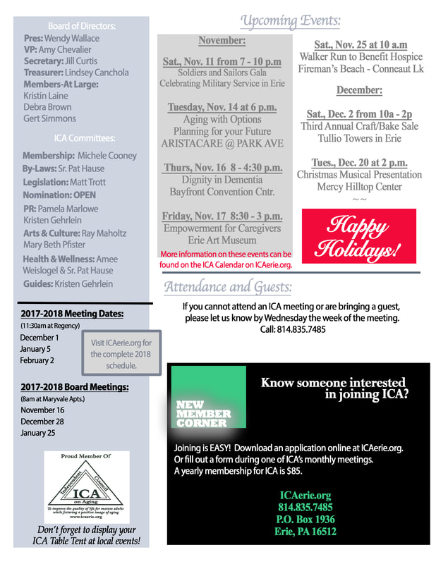 Ica Holiday Newsletter